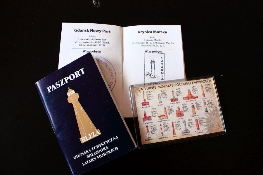paszport na pieczatki z latarni BLIZA