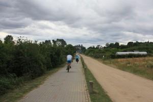 ścieżka rowerowa w stronę pucka