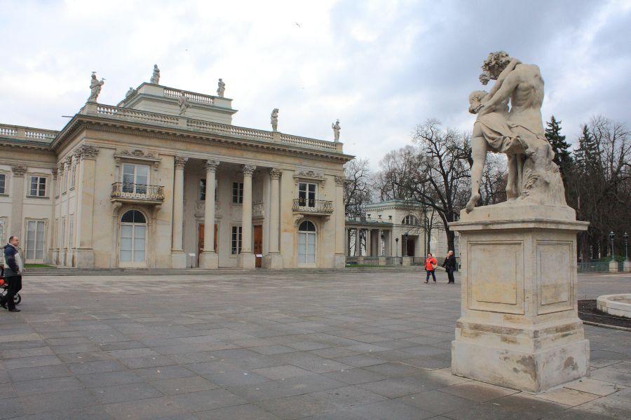 Łazienki widok na pałac