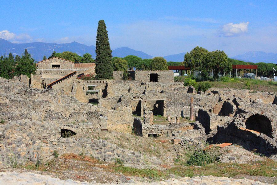 Pompeje widok