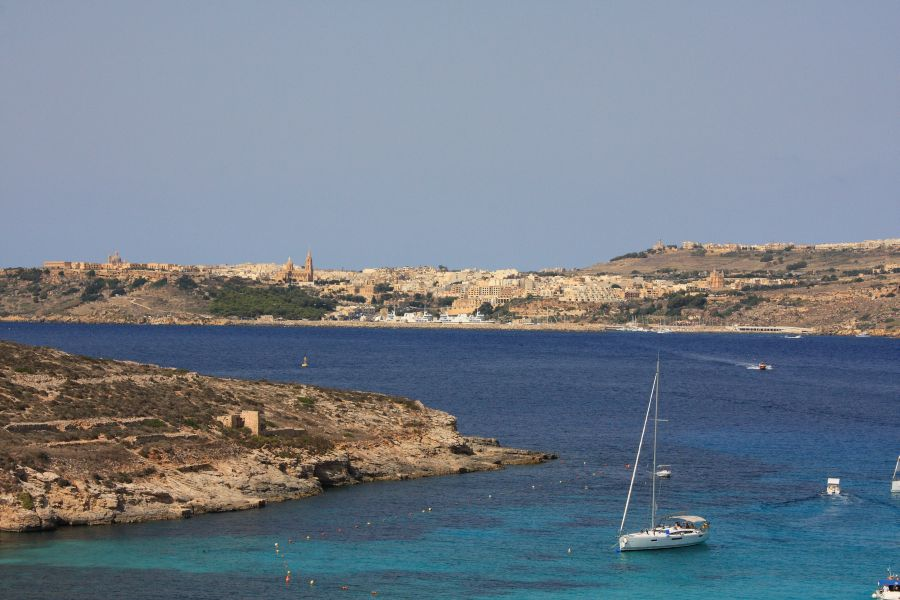 Comino widok na Gozo
