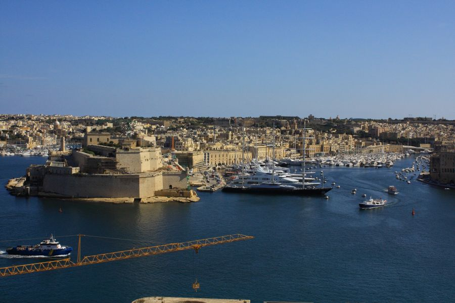 Valletta widok na port