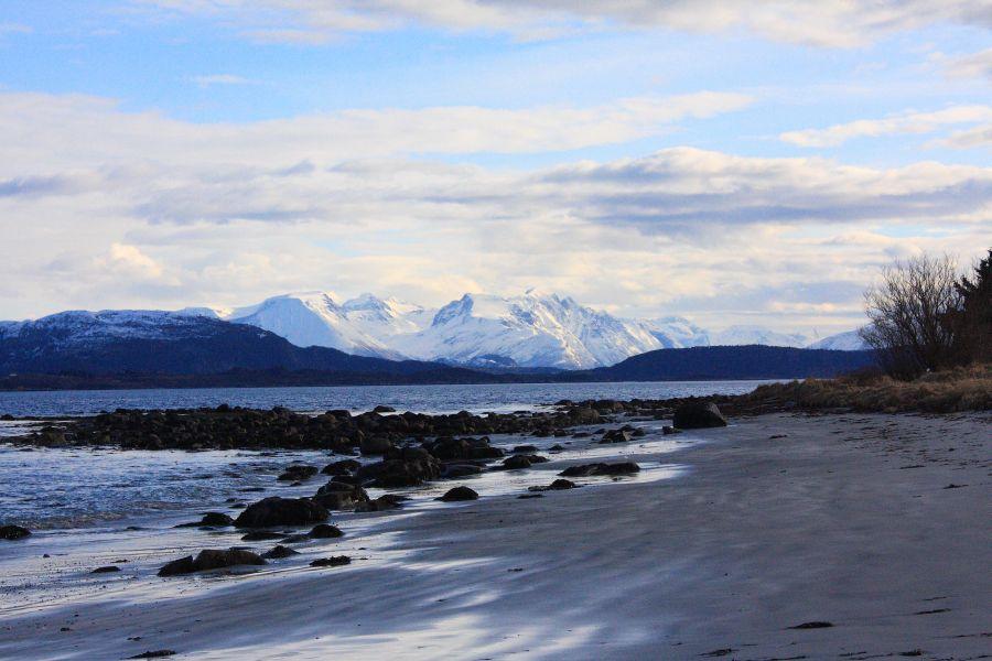 Alesund plaża przy lotnisku