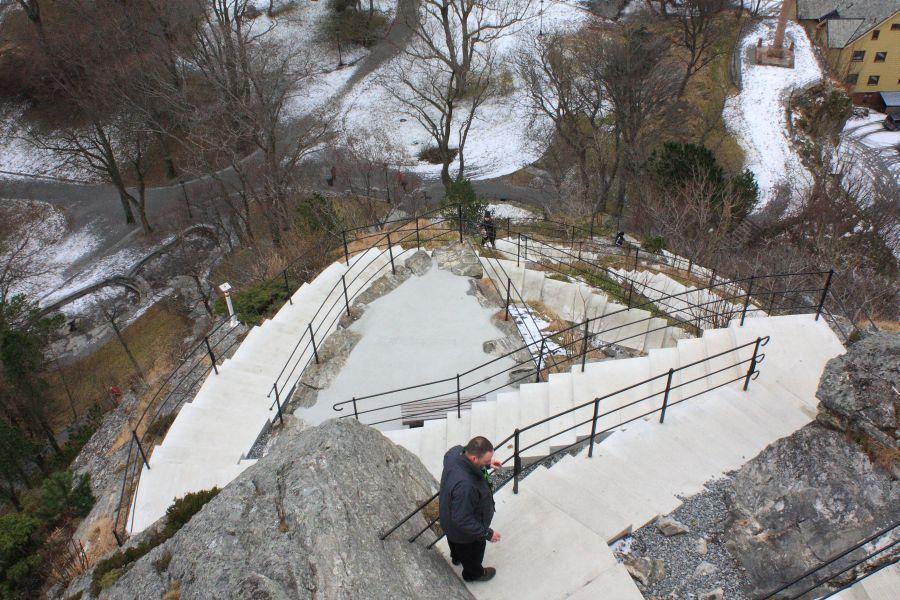 Alesund schody na Aksla