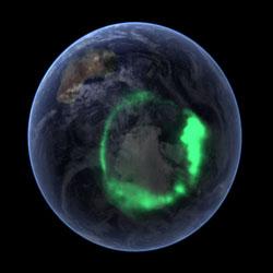 zdjęcie zorzy z kosmosu