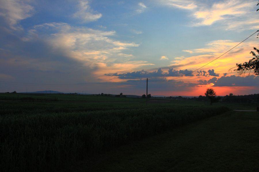świętokrzyskie zachód słońca